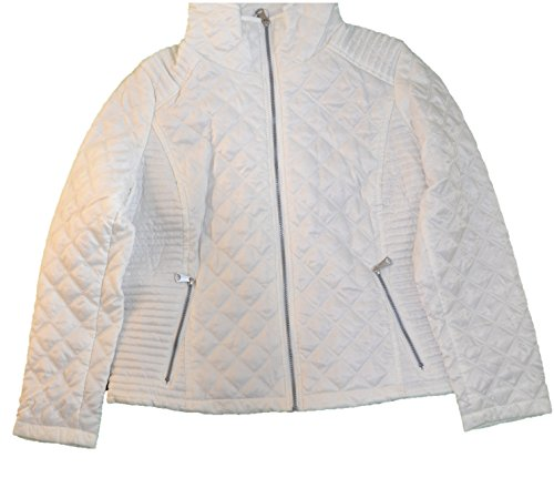 Marc New York Ladies' Quilted Jacket (White, Medium) (Jacket Quilted White Womens)