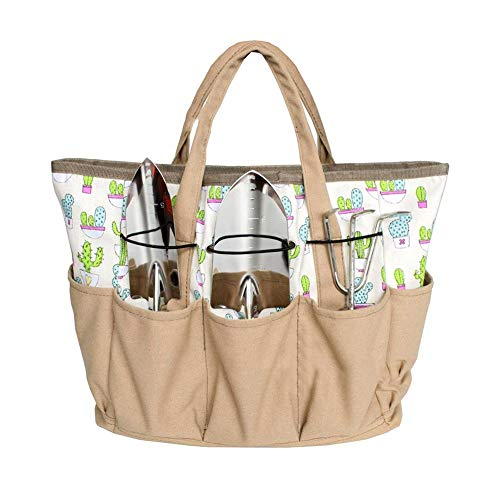 TOPINCN Garden Hand Tool Bag Tote Set Multi-Purpose Organizer Diaper Oxford Bag Holder Gardening and Planting Kit with Pockets