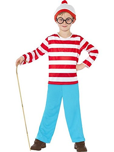 [Smiffys Boys' Where's Wally?(tm) Costume Large] (Wheres Wally Fancy Dress Kids)
