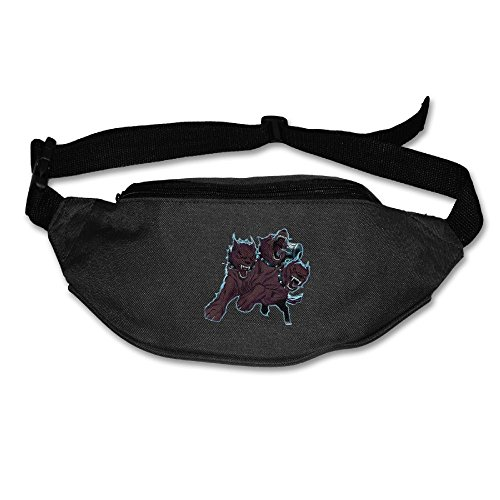 Xxh Fanny Pack Waist Three-headed Fierce Wolf Sport Bag For Outdoors Workout Cycling -