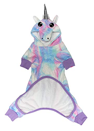 PET Onesie - The Unicorn - LAURDIY Most Adorable Dog Pajama Outfit, Medium -