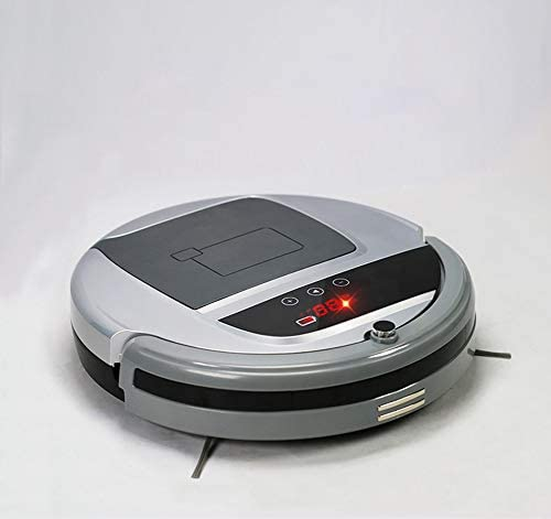 Haoshangzh55 Robot Aspirateur Planifiez automatiquement la Machine de Balayage et d\'essuyage pour Le Sol Dur et Le Tapis Ultra-Mince Gris Robot de Balayage Intelligent