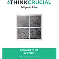 1 LG LT120F Air Purifying Fridge Filter; Fits LG LT120F; Compare to Part # ADQ73334008 & ADQ73214404 ; Designed & Engineered by Crucial Air