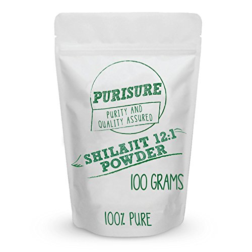 Shilajit Powder 12 1 Extract 100g 400 Servings Supports Memory, Nutrient Absorption, Intelligence, Healthy Blood Sugar, Detox, Antioxidants