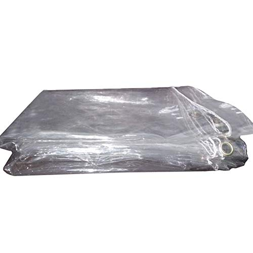 Farmers Market Stall - Tarpaulin Transparent Clear PVC Rainproof, Heavy Duty Waterproof Market Stall Tarps Tent, Sheet Sheeting Tarp Cover Eyelets Reinforced, Thickness 0.5mm (Size : 1.1M×2M)