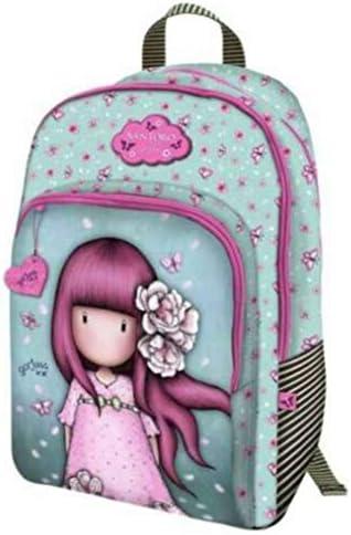 Mochila escolar compatible con Santoro Gorjuss Blosson Cherry flores de cereza + estuche con cremallera ovalado + llavero con brillantina + paquete de 10 bolígrafos: Amazon.es: Equipaje