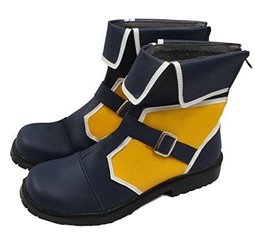 Xcoser Anime Cosplay Kingdom Hearts 3 Sora Boots Lacing Boots Shoes Golden