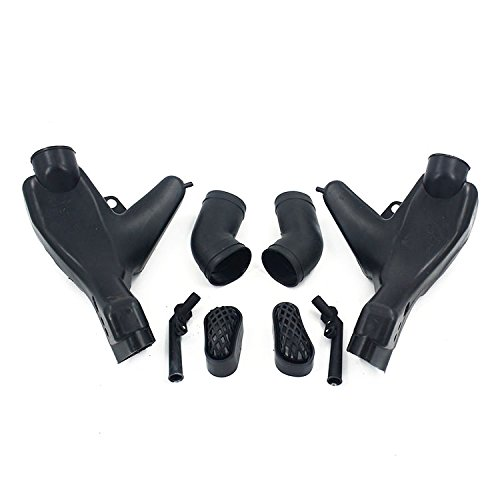 An Xin Motorcycle Black Left Right Ram Air Intake Tube Duct Fit For Kawasaki ZZR400 93-07 Z400: