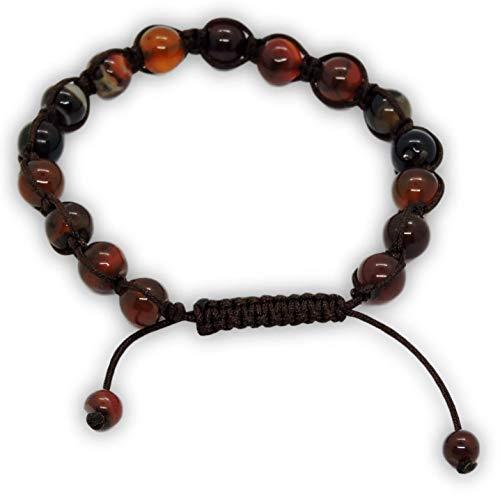 Tibetan Buddhist Hand Knotted Banded Agate Wrist Mala/Bracelet for Meditation