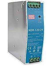 Mean Well originele NDR-120-24 24V 5A meanwell NDR-120 24V 120W single - industriële DIN-rail stroomvoorziening