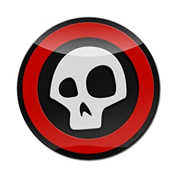 GoBadges LC0066 3D Skull 01 Premium 2-3 Magnetic Acrylic Layered Grill Badge//UV Stable /& Weather-Proof//Works Grill Badge Holder