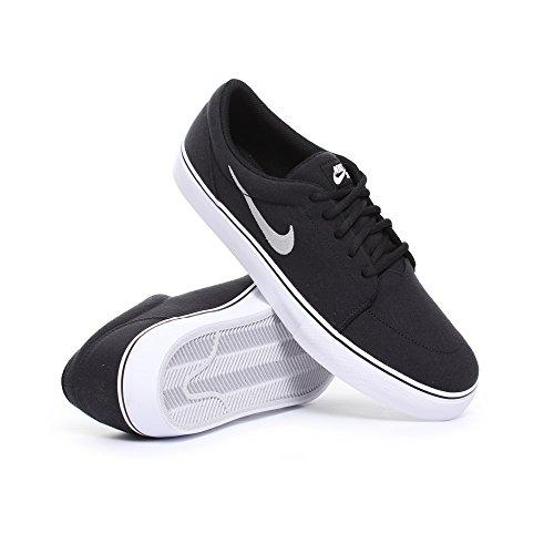 Nike Satire Canvas, Zapatillas de Skateboarding para Hombre Black/White