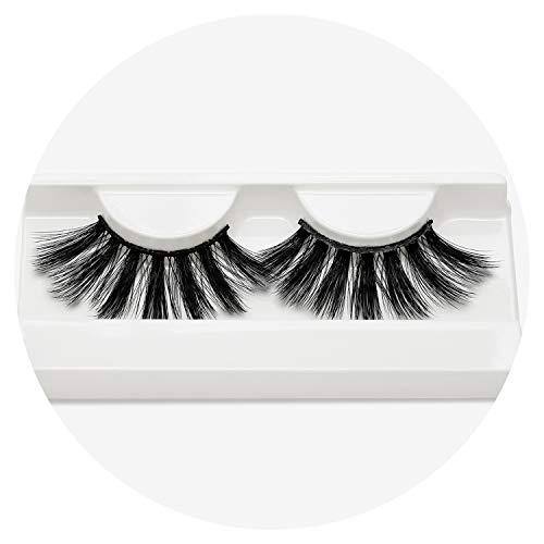 False Eyelashes Faux 3D Mink Eyelashes Crossing Fake lashes Hand Made Strip Eyelash Extension Beautiful Package cilios,7 ()