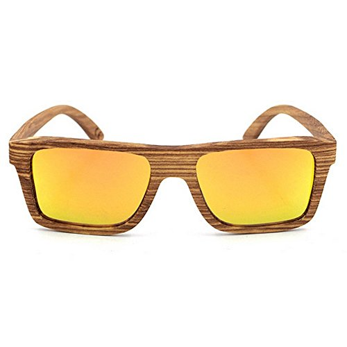 mano fines diario marco uso clásico Adecuado unisex hechas de múltiples Protección a de De del sol madera la adulto coloreada y Gafas UV400 de lente para para Naranja la libre aire cebra de completo al zff5qw6Cx