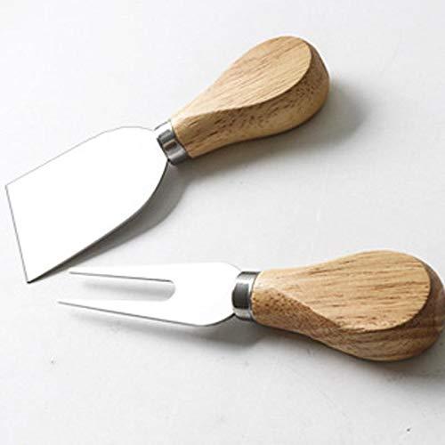 OIJN Edelstahl-K/äsemesser Holzgriff Buttermesser Pizzaschneider Backwerkzeugset 13 cm L/änge Gr/ö/ße: ca Holz Material: Edelstahl