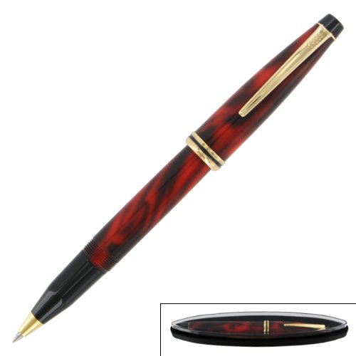 Cross Radiance Red Marble and 23k Gold Selectip Rollerball (Cross Townsend Selectip Rolling Ball)