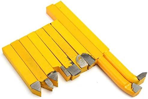 Lathe Tool Rotating Tool Turning Boring Bar Carbide Lathe Turning Tool Holder Yellow 8x8mm 9pcs YW1