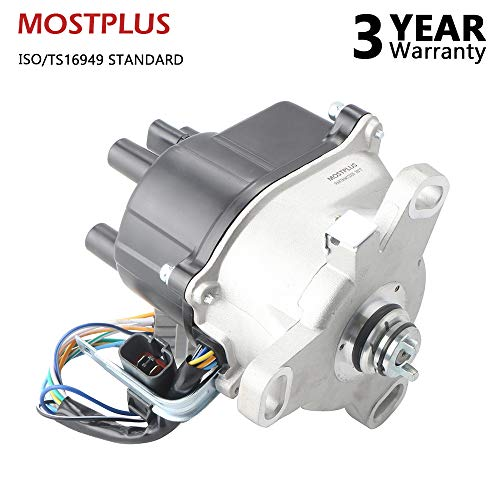 (MOSTPLUS New Ignition Distributor for 92-95 Accord Prelude 2.2L External Coil TD52U TD59U )