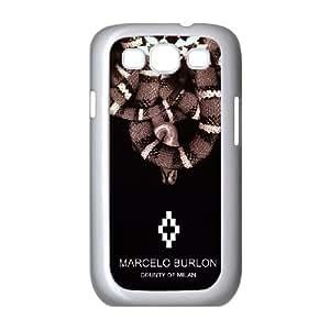Marcelo Burlon E8W42B6NY funda Samsung Galaxy S3 9300 funda caso 2PY0EA blanco