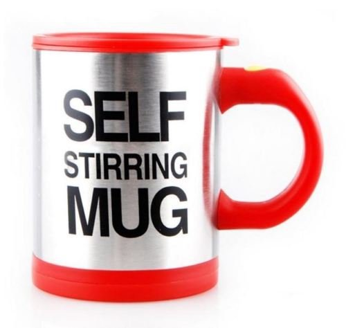 Self Stirring Coffee Mug (Black/Silver) - 8