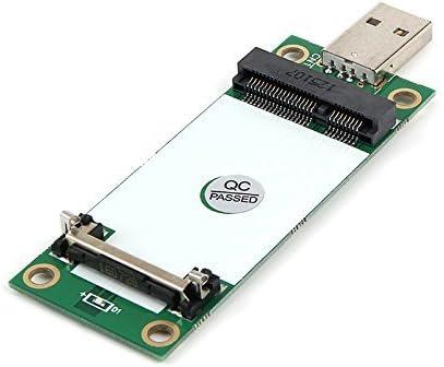 LeHang Mini PCIe Tarjeta WWAN a USB Adaptador Ranura de SIM, Mini PCI Express WWAN/LTE / 4G Convertidor de probador de módulos, Soporte 30 mm 50 mm ...