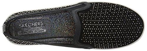 Skechers Street Kvinders Dobbelt Op-diamant Pige Mode Sneaker Sort 2Z2JDO