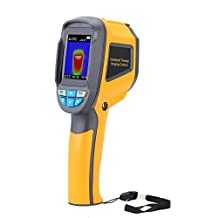 Minritech Professional Handheld Thermometer Thermal Imaging Camera Portable Infrared Thermometer IR Thermal Imager Infrared Imaging Device (Yellow)