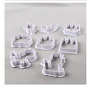 Flip chip cake mold Christmas Unicorn baking plastic cut cookie cookie making tool a