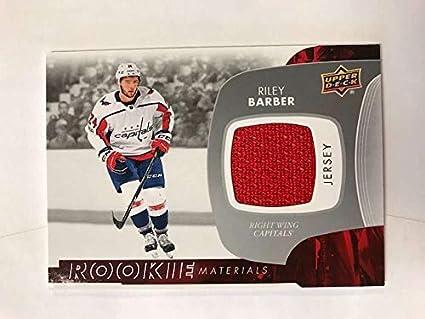 Amazon.com  2017-18 Upper Deck Rookie Materials  RM-RB Riley Barber ... d42b5dbd4