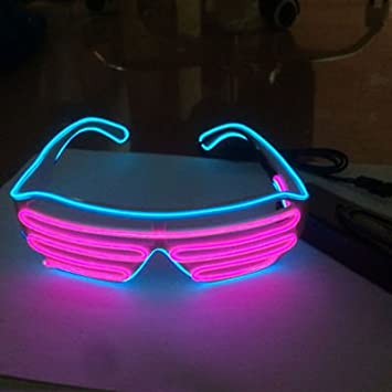 song store EL Wire LED Blinkie Brille Leuchtbrille Partybrille ...