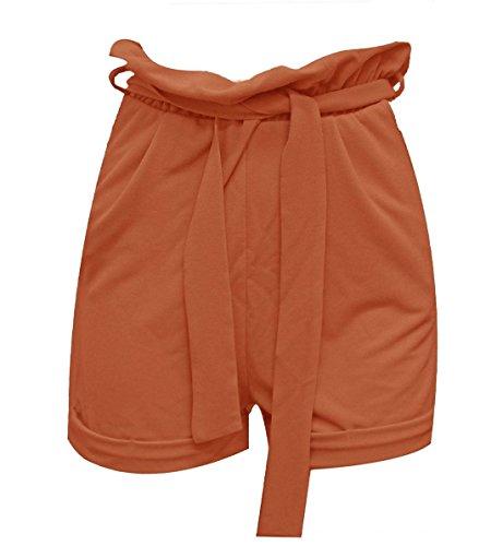 Vita Estivi Alta Fashions Cintura Casual Pantaloncini Bag Islander 40 46 Wear Fancy Ladies Paper Orange Womens It Con Ovz1qBw