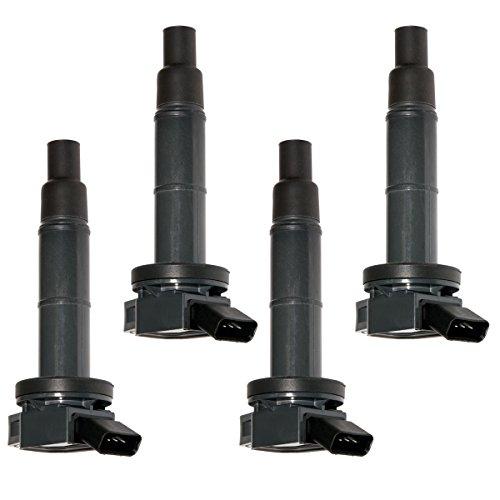 Ignition Toyota (Set of 4 Ignition Coils For Toyota Camry RAV4 Solara Matrix Highlander Lexus Pontiac Scion UF333 C1330 UF-333 5C1299)