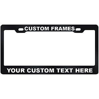 Amazoncom Goplates Custom License Plate Frame Laser Engraved