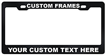customized black anodized aluminum license plate frame laser engraved