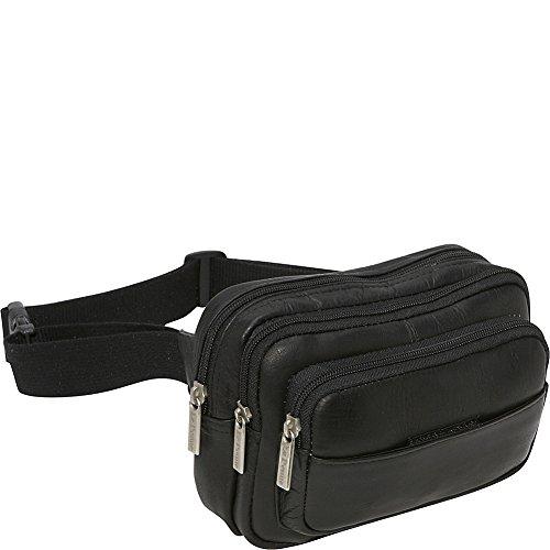 le-donne-leather-four-compartment-waist-bag-one-size-black