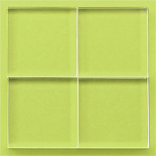 5 Pack - CleverDelights 50mm Square Glass Tiles - 2 Inch - Clear Solid Glass Tiles - 10mm Thick