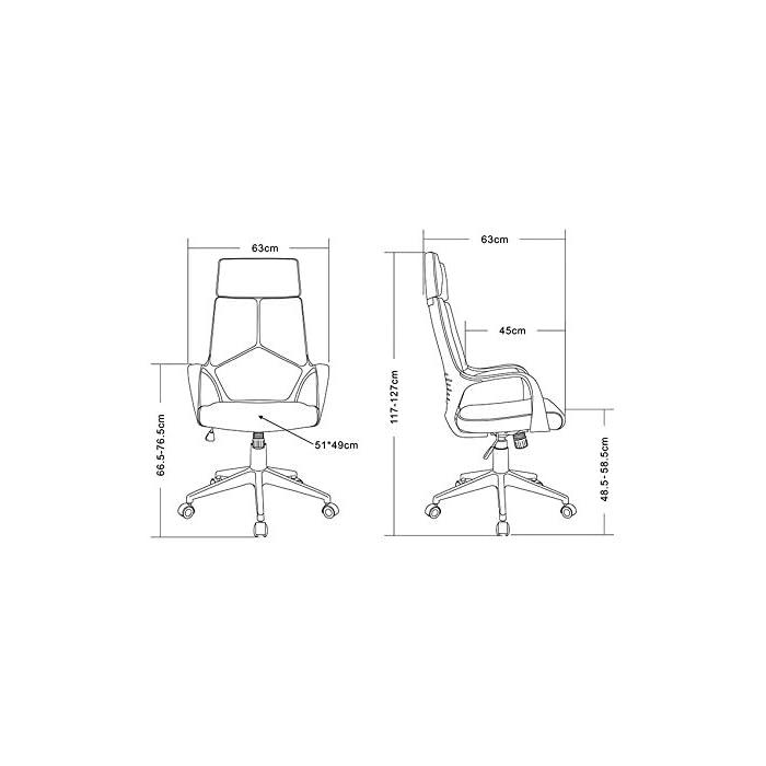 41SoNtmihdL Color: Gris / Blanco Asiento regulable sin niveles fijos Asiento y respaldo de tela