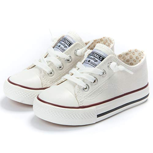 Weestep Canvas Sneaker (12, White)