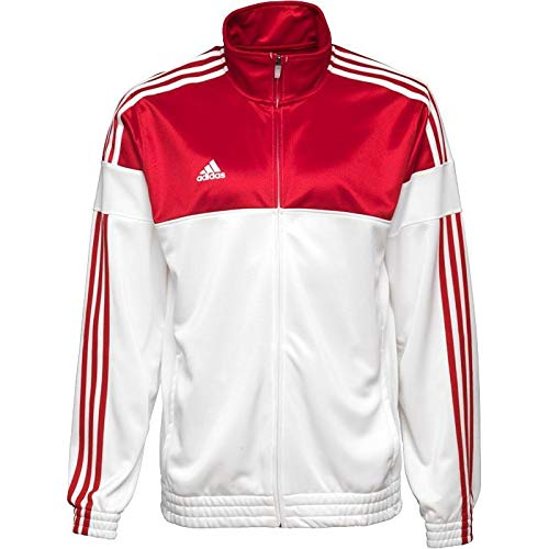 c4b890f063dbf adidas Men's 3S Eat Tracksuit Top Sports Jacket Firebird Tracktop White Red  or Green - Red