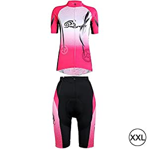Cycling Short Sleeves Jersey + Shorts Set for Women (Size: XXL)