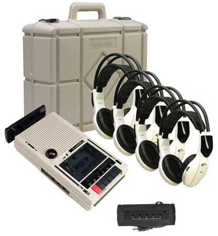 Califone International 3432IR-PLC 4-Person Wireless Cassette Recorder-Player Listening Center