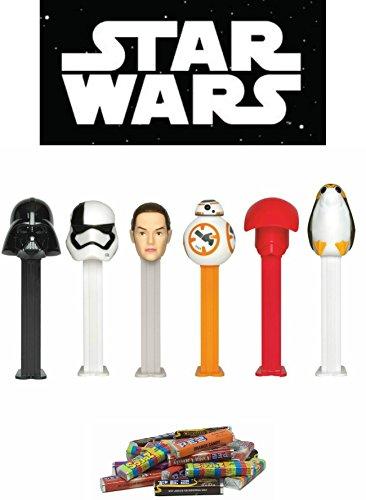 PEZ Star Wars Dispensers and Candy Set (Bundle of 7 Items) - 6 Star Wars Dispensers and a PEZ Candy Refill Set ()