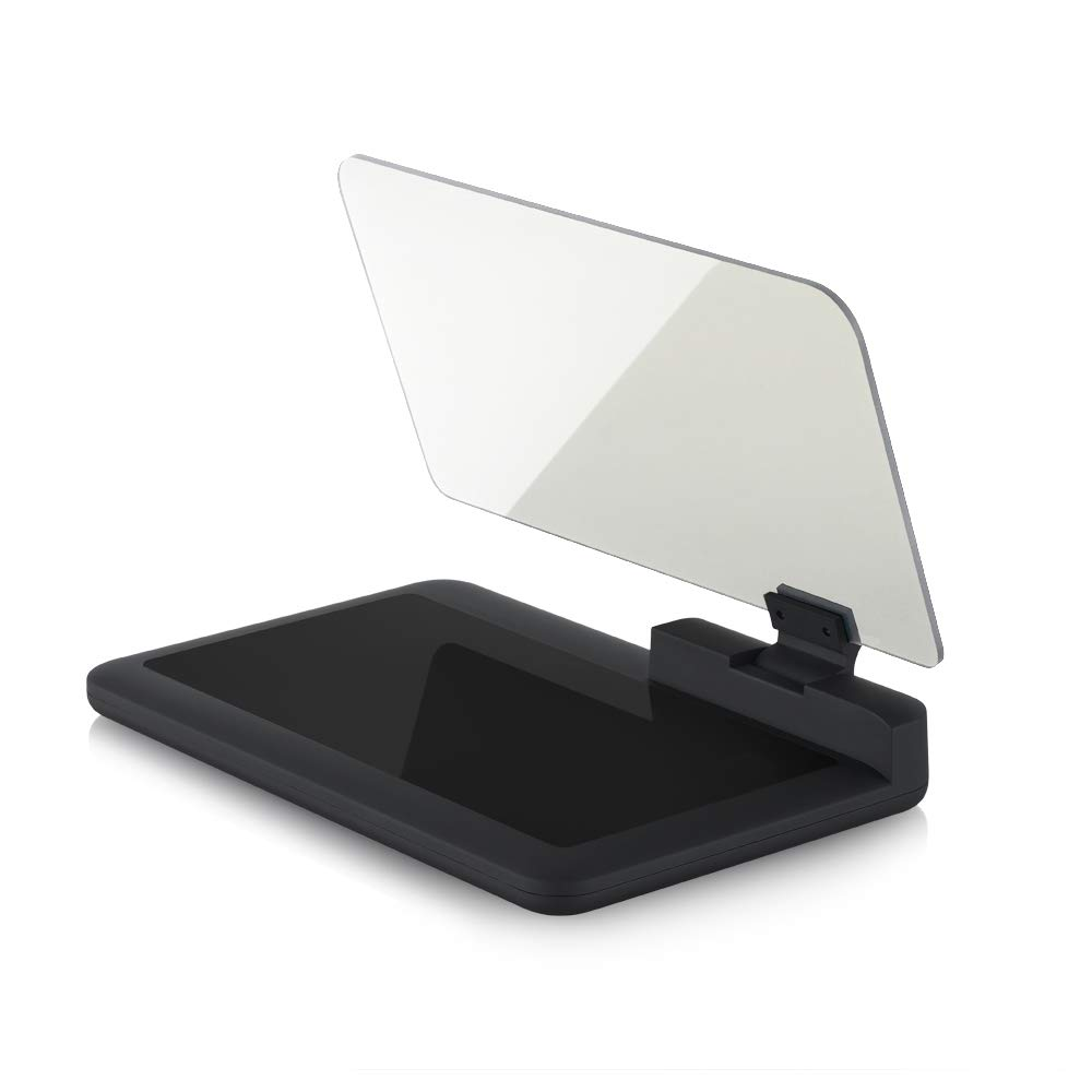 Arestech Car GPS Mobile Head Up Display Holder with HD Image Reflection for HUD, Smartphone, iPhone, Samsung, Car Navigation (Up to 6 Inches)