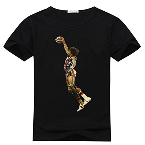NBA Doctor J logo Men's classic Black T-shirt - Doctor J Tshirt