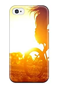 For Iphone Case, High Quality Biker In The Sunset For Iphone 4/4s Cover Cases