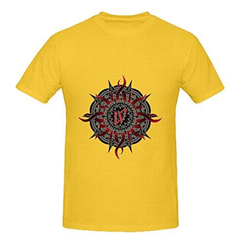 godsmack-iv-jazz-mens-crew-neck-art-t-shirts-yellow