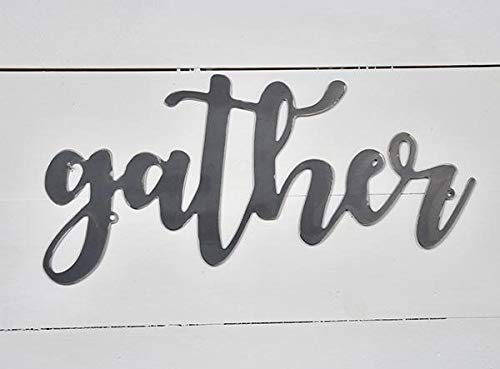 - AT Industrial Metal Script Word Wall Sign Decor (Gather)