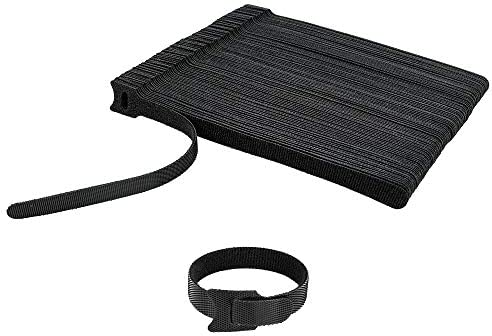 100 PCS 8×1/2 Inch Reusable Fastening Cable Ties Velcro Black with Hook Loop Rope Holder, KOOWIN Adjustable Cord Organization Straps Management Cable Wraps Cord Wire Organizer for Home Office