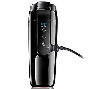 41SoPRjsw5L. SS300 12V Auto Reise Wasserkocher, Heizbecher mit Überlaufschutz und Edelstahlauskleidung, Tragbare Kaffeetasse, Elektrische…