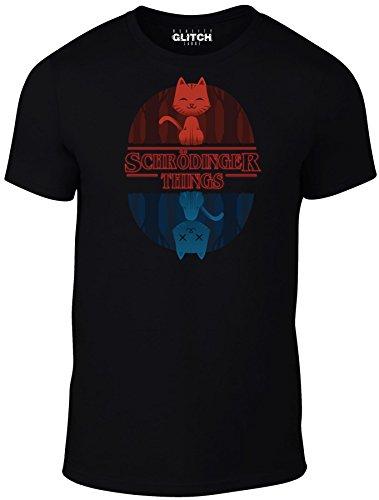 Reality Glitch Men's Schrodinger Things T-Shirt (XXXXX-Large, Black) -